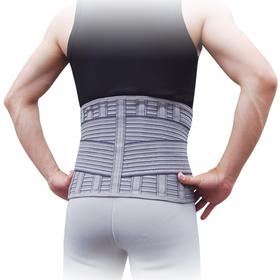 Корсет для спини з 6 ребрами жорсткості Ortop WB-605 р.L сірий