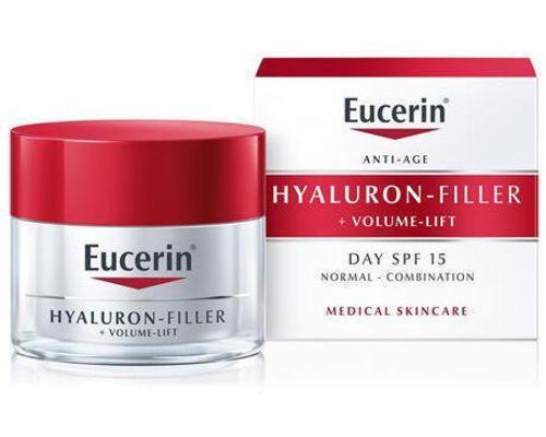 Крем Eucerin Hyaluron Filler Volume Lift Day Cream Денний антивіковий для нормальної/комбінованої шкіри SPF15+ 50 мл (89761)