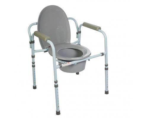 Стілець-туалет Dr.Life 10595 складаний преміум зі спинкою