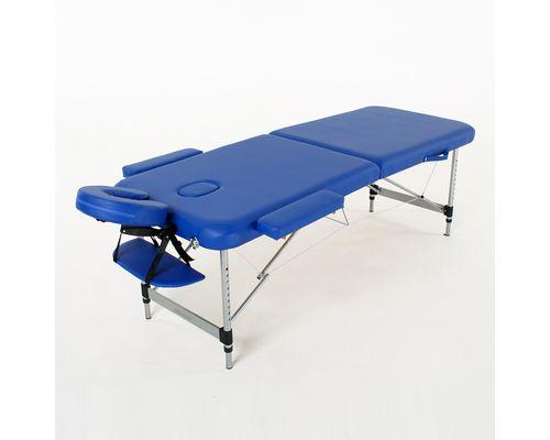 Масажний стіл RelaxLine Hawaii, алюмінієва основа, темно-синій