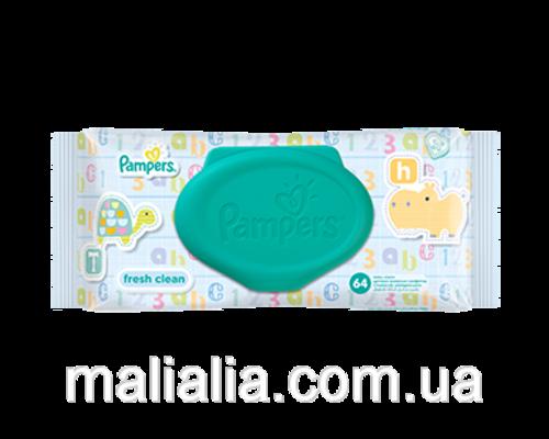 Дитячі вологі серветки Pampers Baby Fresh №64