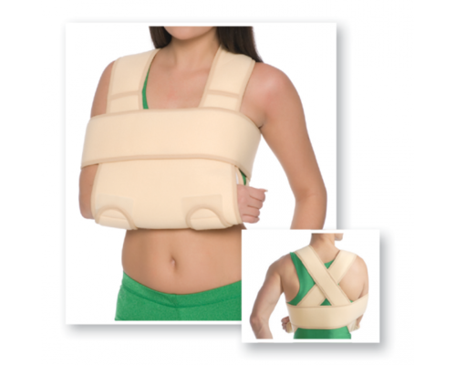 Бандаж фіксуючий на плечовий суглоб MedTextile 8011 пов'язка Дезо р.S/M бежевий