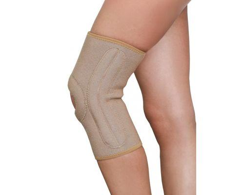 Бандаж на колінний суглоб з ребрами жорсткості MedTextile 6111 р.S бежевий