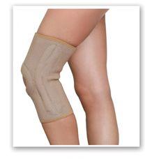 Бандаж MedTextile 6111 на колінний суглоб з ребрами жорсткості р.S, бежевий