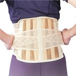Бандаж для спини середньої фіксації з 6 ребрами жорсткості Ortop EB-510 р.XL бежевий