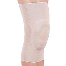 Бандаж Ortop ES-710 на колінний суглоб з гелевим кільцем еластичний р.M, бежевий