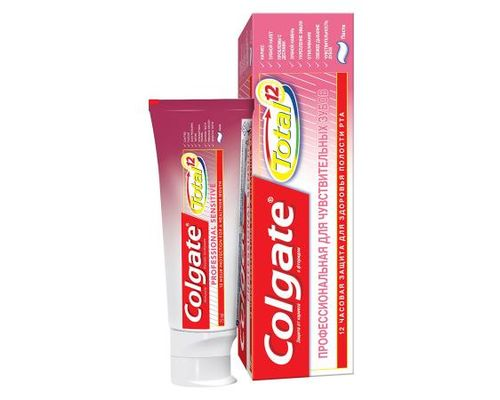 Зубна паста Colgate (Колгейт) Total 12 професійна для чутливих зубів 75мл