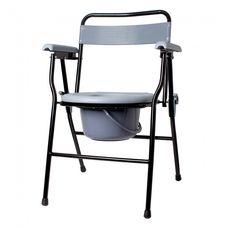 Крісло-стілець з санітарним оснащенням Рідні KJT710B нерегульоване за висотою, складане