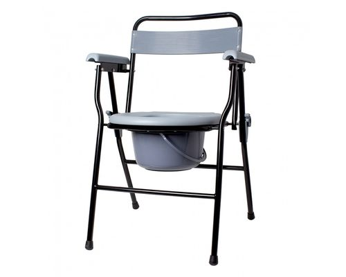 Крісло-стілець з санітарним оснащенням Ridni Care KJT710B нерегульоване за висотою, складане