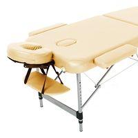 Масажний стіл RelaxLine Belize, алюмінієва основа, бежевий