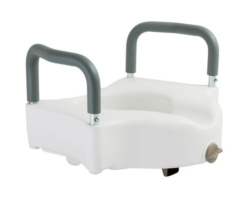 Сидіння для туалету Dr.Life 10 см з поручнями (12205/В)