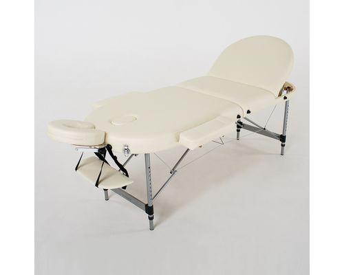 Масажний стіл RelaxLine Oasis, алюмінієва основа, світло-бежевий