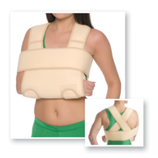Бандаж фіксуючий на плечовий суглоб MedTextile 8011 пов'язка Дезо р.L/XXL бежевий