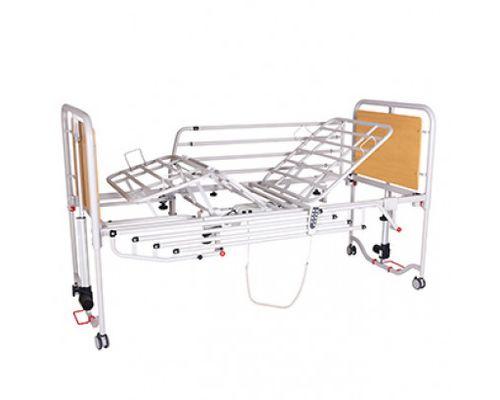 Ліжко медичне функціональне OSD-9576 чотирьохсекційна з посиленими поручнями на колесах з можливістю регулювання по висоті