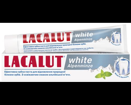 Зубна паста Lacalut (Лакалут) White Alpenminze Альпійська м'ята 75мл