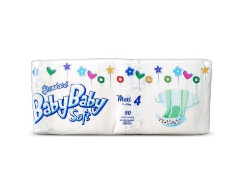 Підгузники BabyBaby Soft Standart Maxi (7-18кг) р.4 №50