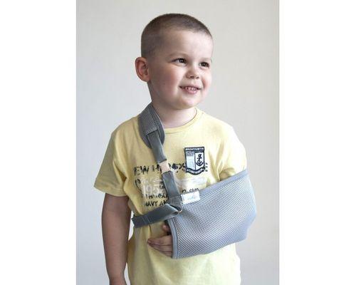 Бандаж дитячий для підтримки руки (хустинка) Алком 3004k р.2 сірий