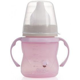 Дитяча кружка тренувальна Canpol 35/300 LOVI Retro 150мл, рожева