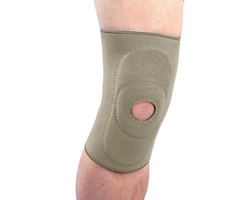 Бандаж на колінний суглоб неопреновий з пателярним кільцем Ortop NS-703 р.S бежевий