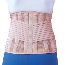 Бандаж Ortop EB-537 для спини зігріваючий, з 6 ребрами жорсткості р.XXL, бежевий
