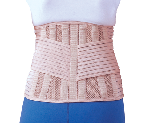 Бандаж для спини зігріваючий з 6 ребрами жорсткості Ortop EB-537 р.XXL бежевий