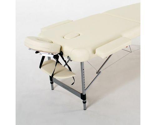 Масажний стіл RelaxLine Belize, алюмінієва основа, світло-бежевий