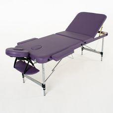 Масажний стіл RelaxLine Belize, алюмінієва основа, фіолетовий