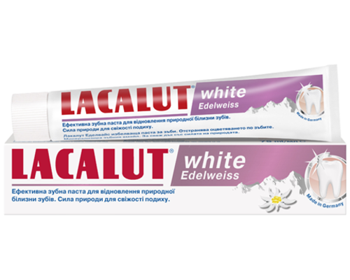 Зубна паста Lacalut (Лакалут) White Edelweiss Едельвейс 75мл