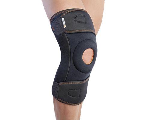 Ортез на колінний суглоб з бічною стабілізацією роз`ємний Orliman 3-Tex 7120 р.2 чорний