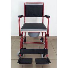 Крісло-туалет Діспомед СтД-27 з відкидною ручкою, складне, на колесах