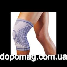"""Бандаж Алком 3021 """"Dynamics"""" на колінний суглоб з 2 ребрами жорсткості р.3, сіро-синій"""