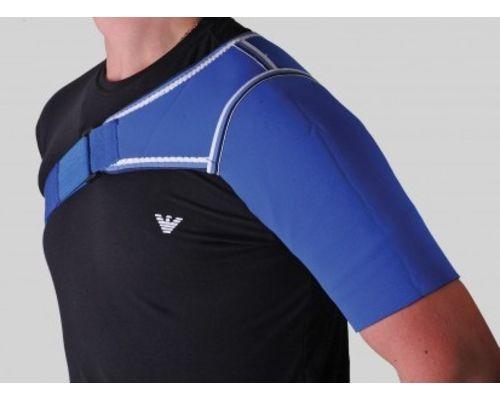 Бандаж на плечовий суглоб неопреновий Алком 4027 р.4 лівий синій