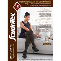 Панчохи Scudotex 597 Люкс із резинкою на силіконовій основі, 140 Den, 1 компресія р.4, чорні непрозорі