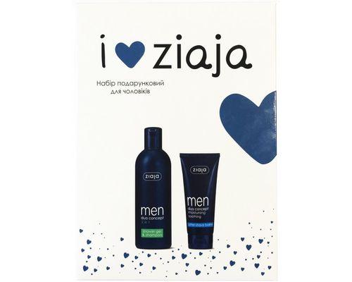 Набір подарунковий Ziaja для чоловіків (Шампунь-гель для душу 2 в 1 Men 300 мл + Бальзам після гоління Yego Sensitiv 75 мл)