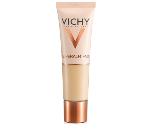Крем тональний Vichy Mineralblend Cream зволожуючий для всіх типів шкіри 30 мл (№01 глина)