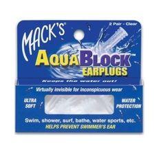Беруші McKeon AquaBlock м`які прозорі №2
