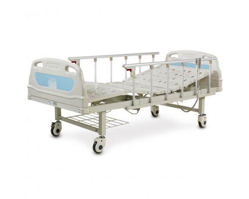 Ліжко медичне реанімаційне OSD-B05P чотирьохсекційне з електроприводом на колесах, алюмінієвими поручнями, штативом для крапельниці