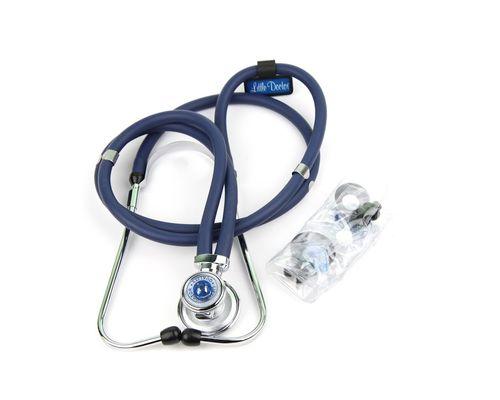 Стетоскоп тип Раппапорта з трубками 72 см Little Doctor LD Special Extra Long синій