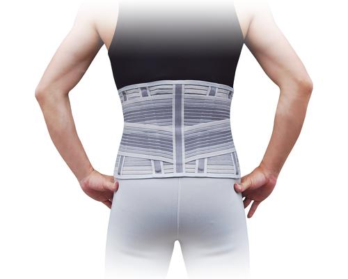 Корсет для спини з 4 ребрами жорсткості Ortop WB-604 р.L сірий