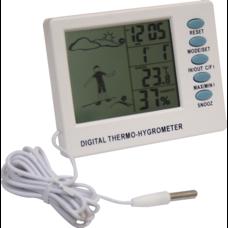 Термогігрометр цифровий з годинником Склоприлад Т-04