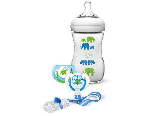 Набір для годування новонароджених 1+міс. Avent для хлопчиків (SCD627/01)