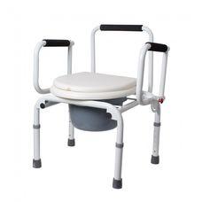 Крісло-стілець Рідні KJT729 з санітарним оснащенням, з відкидними підлокітниками