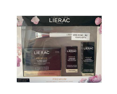 Набір Lierac (Шовковистий крем Premium 50 мл + Крем для контуру очей Premium 3 мл + Маска Premium 10 мл