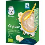 Дитяча каша Gerber Organic суха молочна швидкорозчинна органічна Пшенично-вівсяна з бананом з 6 місяців 240 г