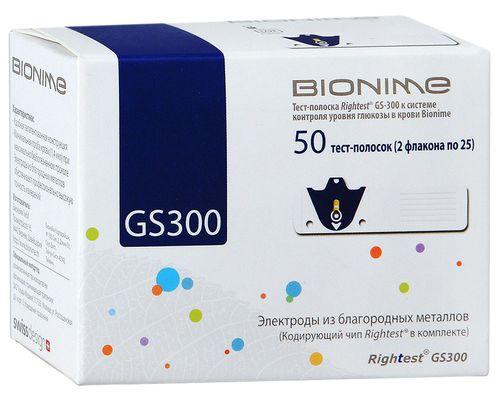 Тест-смужки Bionime Rightest GS300 №50