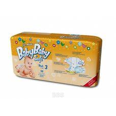 Підгузники BabyBaby Soft Premium Midi (4-9кг) р.3 №56