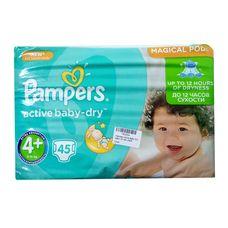 Підгузники Pampers Active Baby-Dry Mахі+ (9-19кг) №45