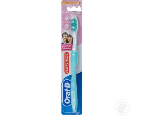 Зубна щітка Oral-B (Орал-В) 3-Effect Делікатне відбілення 40 середньої жорсткості