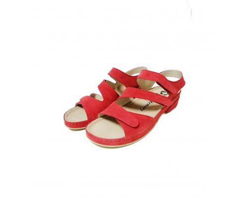 Жіночі замшеві босоніжки Mubb 222-05 р.41 червоні
