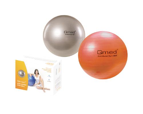 М'яч гімнастичний Qmed ABS GYM BALL КМ-17 срібний